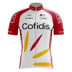 Het shirt van Simon Geschke van COFIDIS